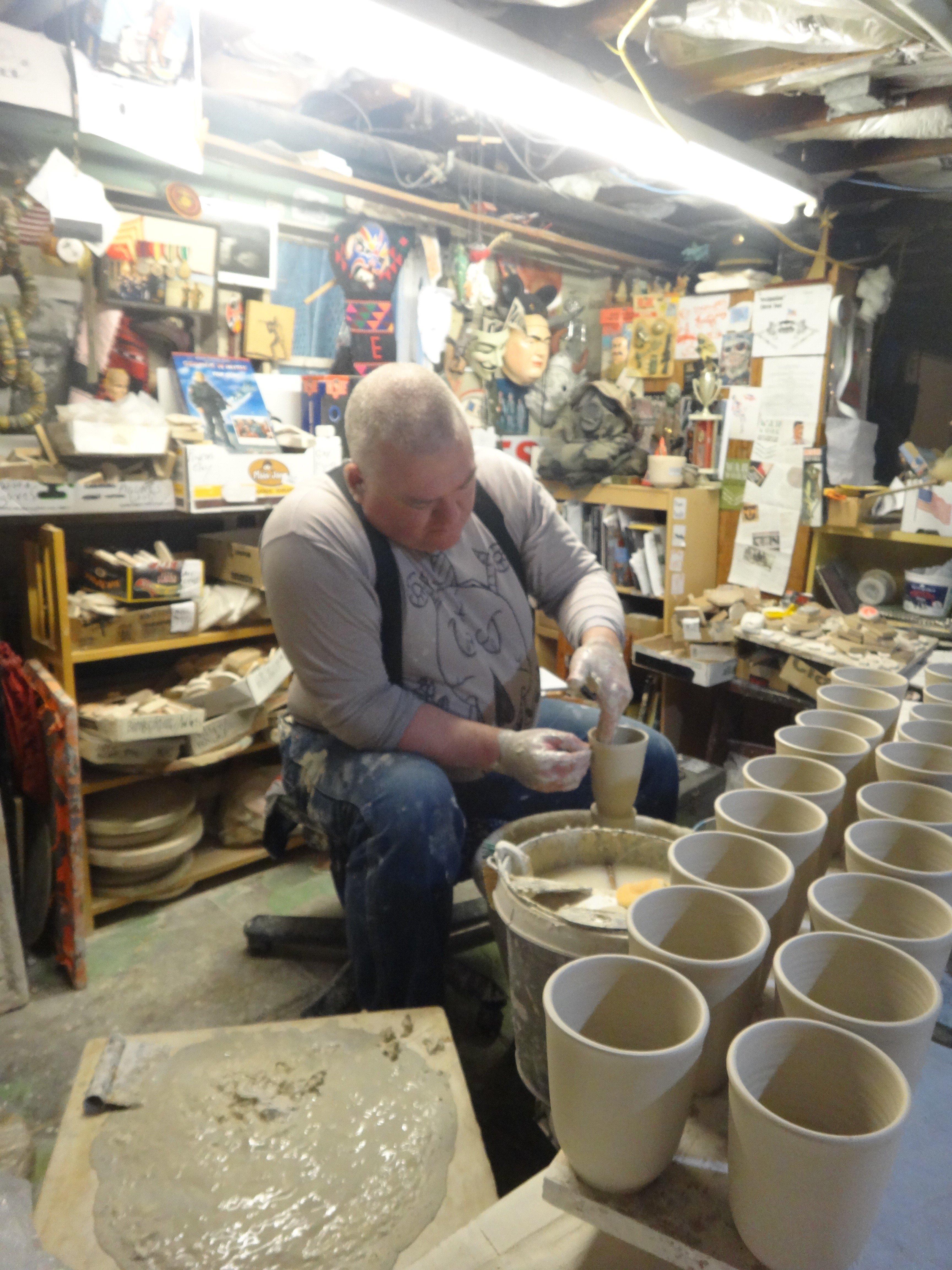 Ceramic artist Ehren Tool