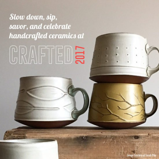 Earthy colored mugs handmade by Sarah Pike