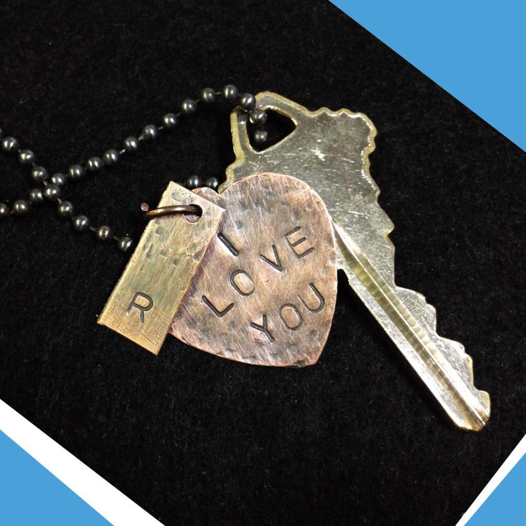 Create a message on a metal pendant as a keepsake