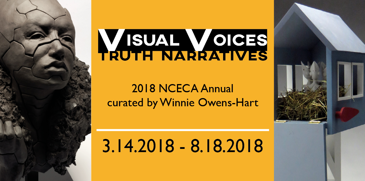 Visual Voices: Truth Narrative, a larger scale ceramic Exhibition