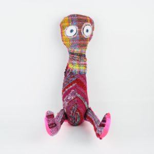 Juliet Martin handwoven textile stuffed creature