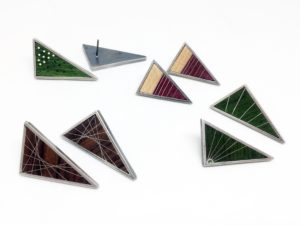 Peter Antor Triangle Earrings