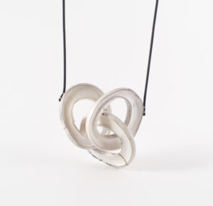 Lydia Martin silver pendent with three interlocked circular forms