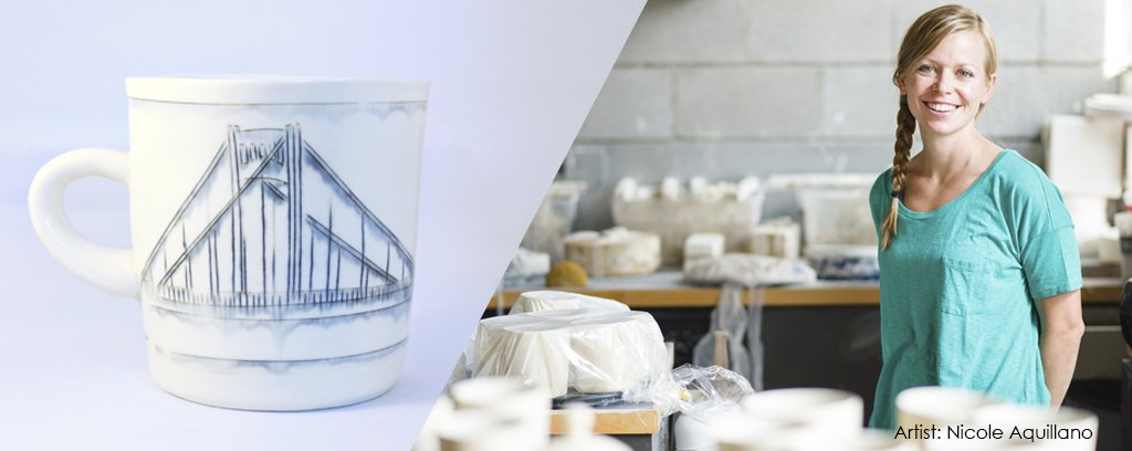 Nicole Aquillano and her Pittsburgh Destination Porcelain tableware
