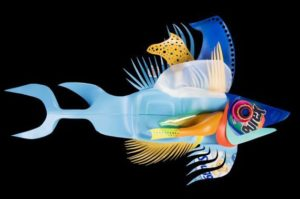 David Edgar plastic fish wall hanging