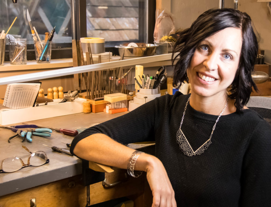 Stacy Rodgers, PA metal artist and one of Contemporary Craft's 2018 LEAP Award finalists.