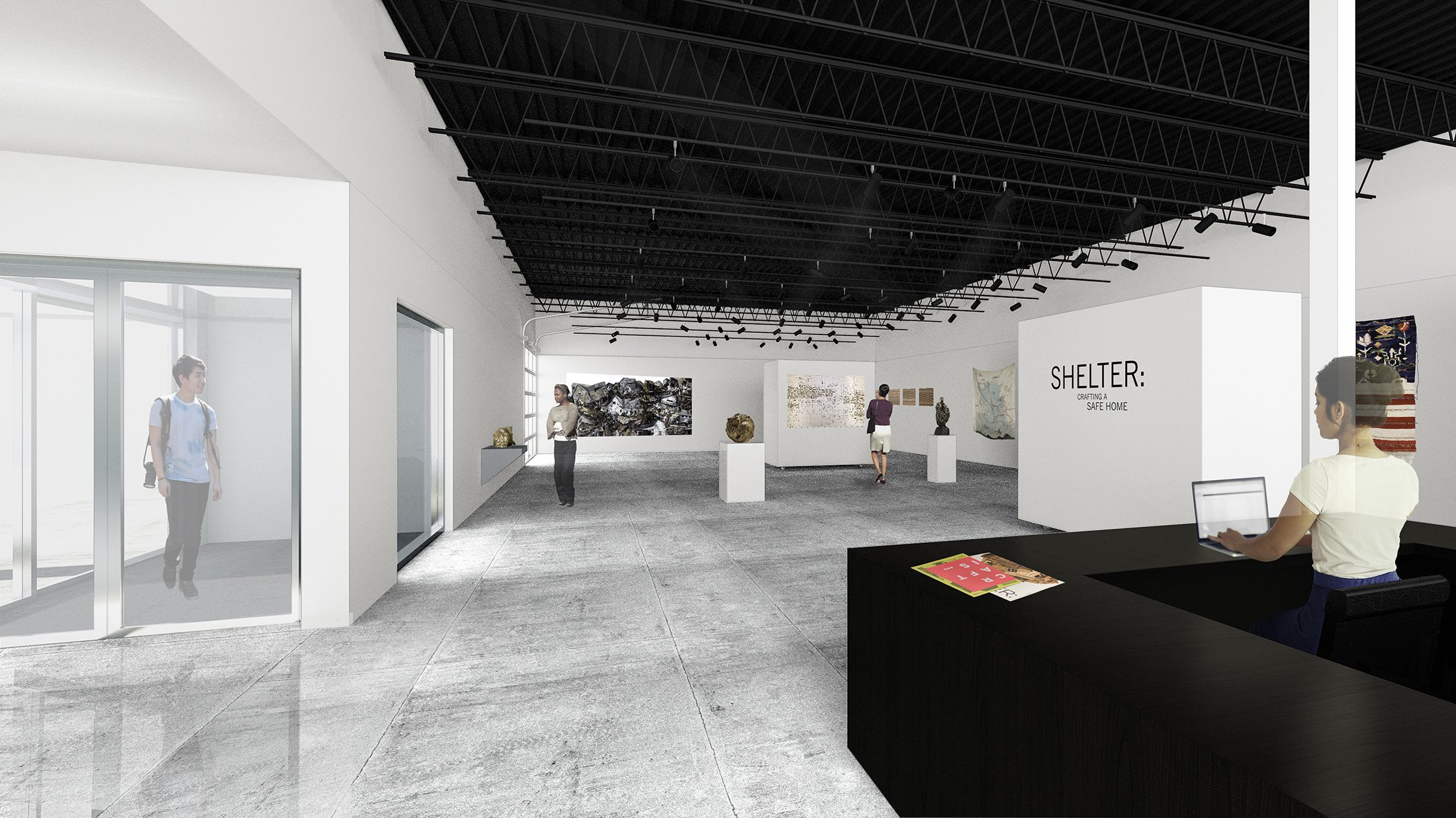 Contemporary Craft's Exhibition Space in the new Lawrenceville facility