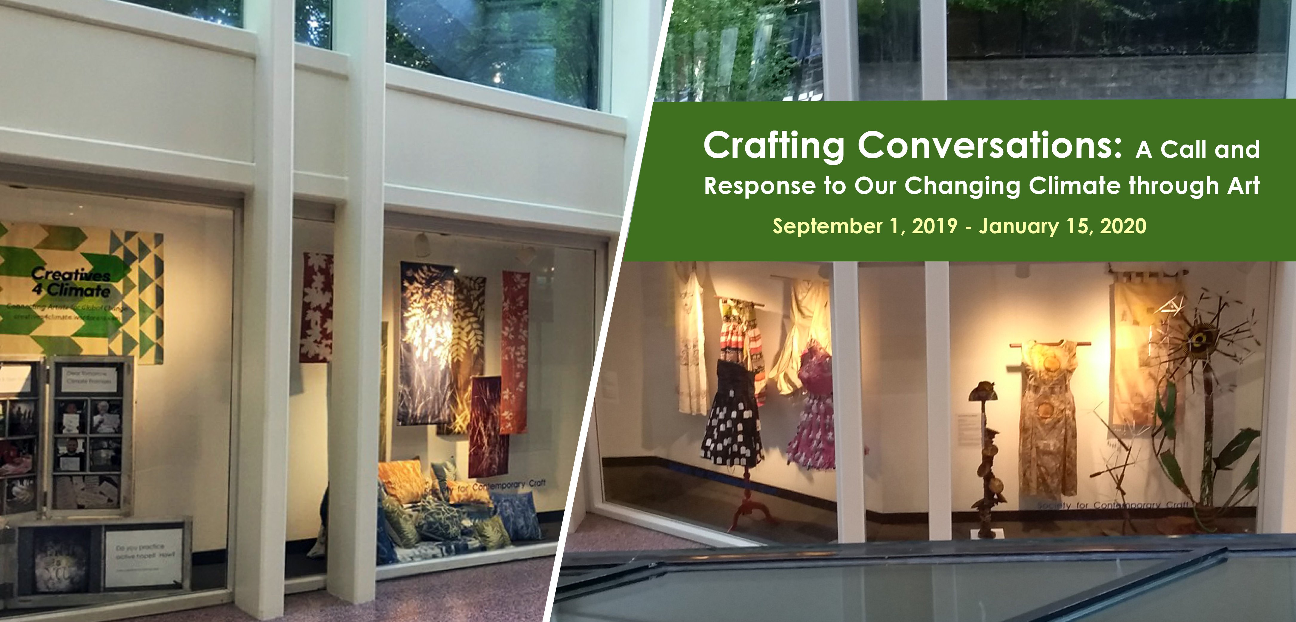 Crafting Conversations: A call and response to our changing climate through art