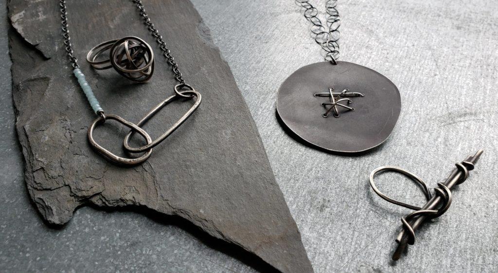 Silver jewelry by Sarah Stanton