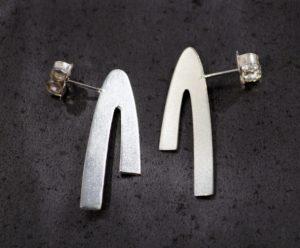 Tegan Wallace silver earrings